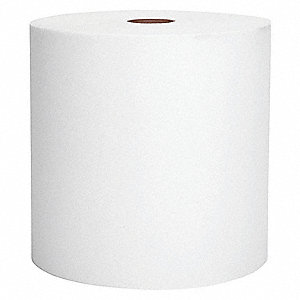 "ROLL TOWEL,WHITE,8"" X 1000 FT.,CA6"