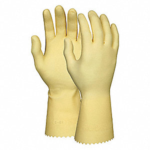 GLOVE,AMBER,L 12IN,LATEX,M