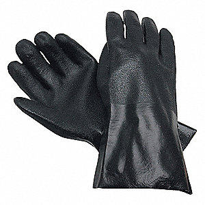GLOVE,BLACK,L 12IN,PVC,LARGE