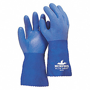 GLOVE,BLUE,L 12IN,PVC,LARGE