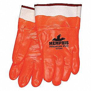GLOVE,ORANGE,L 12IN,PVC,LARGE