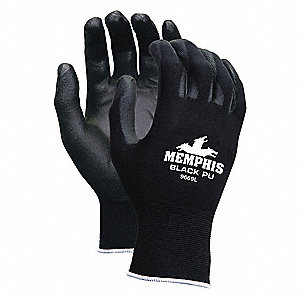 GLOVE,BLACK,KNIT WRIST,XL