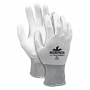 GLOVE,WHITE,KNIT WRIST,XS