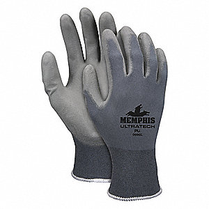 GLOVE,GRAY,KNIT WRIST,S