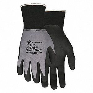GLOVE,GRAY/BLACK,KNIT WRIST,M