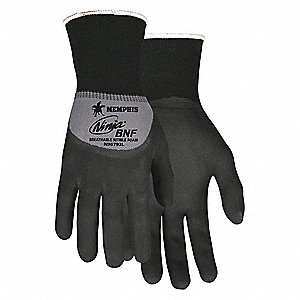 COATED GLOVES,S,15 GA.,NITRILE,PR
