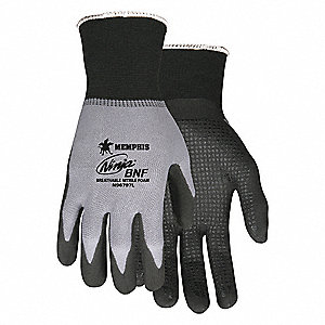 GLOVE,GRAY/BLACK,KNIT WRIST,L