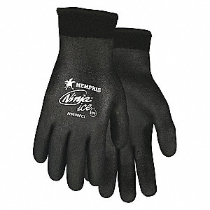 GLOVE,BLACK/BLACK,KNIT WRIST,XXL