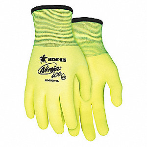 GLOVE,YELLOW/YELLOW,KNIT WRIST,M