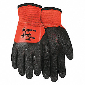 COATED GLOVES,2XL,15/7 GA.,BI-POLYMER,PR