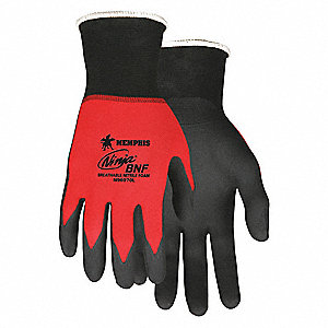 GLOVE,RED/BLACK,KNIT WRIST,XS