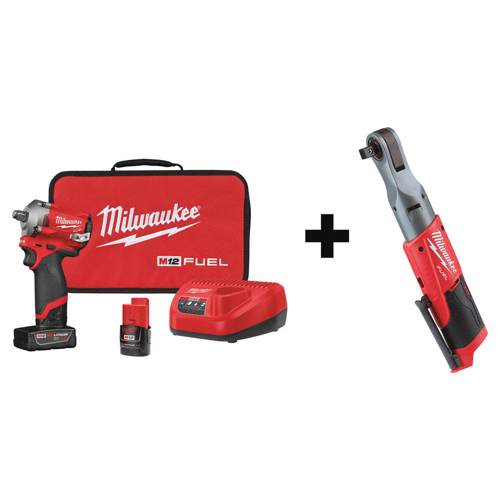 """Milwaukee M12 FUEL 1//2/"""" dr Stubby Impact Wrench 250 ft-lbs Bare Tool #2555-20"""