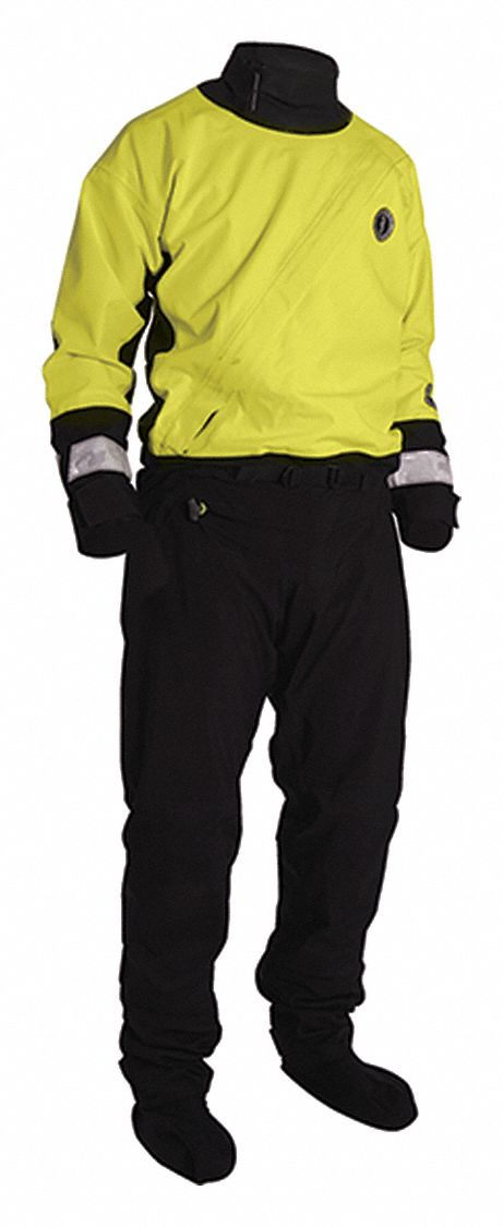 Water Rescue Dry Suit,  L,  Waterproof and Breathable Gore-Tex w/Kevlar(R) Patches