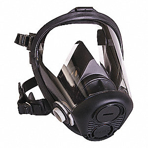 North™ RU6500 Full Face Respirator, Respirator Connection Type: Threaded, 5 pt. Full Face Suspension