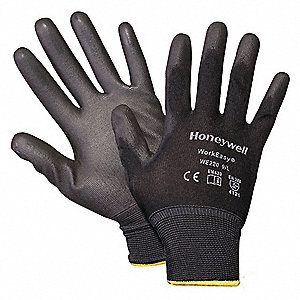 CUT RESISTANT GLOVES,WHT/BLK,S,PR