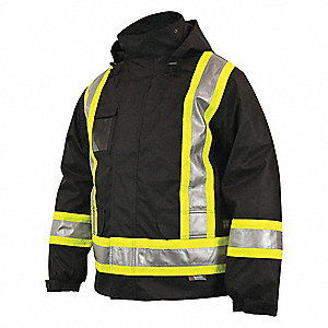 CSA 5IN1 JACKET/RVRSIBLE LINER,BLK,6XL