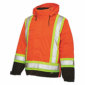 CSA 5IN1 JACKET/RVRSIBLE LINER,ORG,5XLT