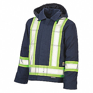CSA TRAFFIC INSULATED JACKET,BLK,XL