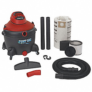 WET/DRY PUMP VACUUM,6.5 PEAK HP,102V