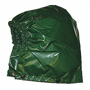 HOODED RAIN JACKET,GREEN,L,ELASTIC BAND