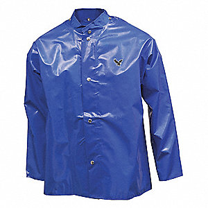 JACKET,NYLON,SMALL,UNISEX,BLUE,SNAPS