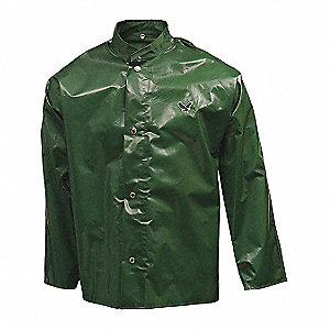 JACKET,NYLON,3X-LARGE,UNISEX,GREEN,SNAPS