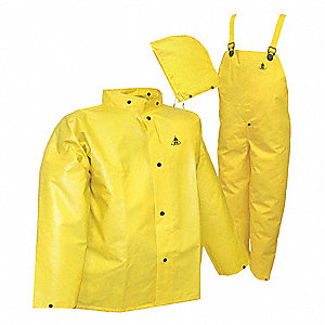 FR RAINSUIT,YELLOW,POLYESTER,UNISEX,L SZ