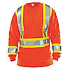 HI-VIS SHIRT,ORNG,LARGE,LONG SLEEVE