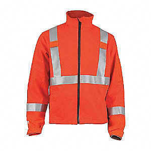FLAME-RESISTANT JACKET,ZIPPER,LARGE TALL