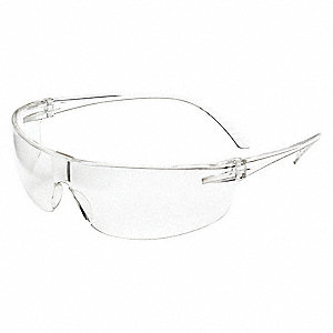 SAFETY GLASSES,CLEAR FRAMELESS,UNISEX