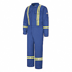 COVERALL,ROYAL BLUE,56 LONG,SNAP CLOSURE