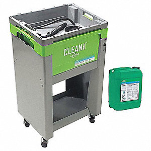 MOBILE PARTS CLEANING SYSTEM,5.5 GAL.