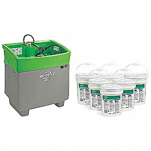 MANUAL PARTS WASHER,5.2 GAL DRUM,500 LBS